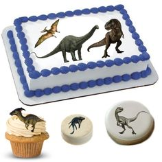 Cake Stickers | Dinosaur Cake Stickers | Dinosaur Cake Topper | Dinosaur Cake | Dinosaur Cupcakes | Dinosaur Cookies | Dinosaur Oreos | Dinosaur Brownies | Dinosaur Party Supply Custom Cake Toppers, Custom Cakes, Wedding Cake Toppers, Dinosaur Cake Toppers, Dinosaur Cupcakes, Dinosaur Party Supplies, Cake Sizes, Polysorbate 80, Cake Decorating Supplies