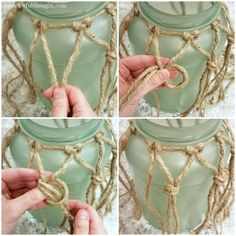 Perfect for your beach/coastal decor & awonderfulthought& The post DIY Sea Glass Rope Lantern appeared first on Dekoration. Rope Crafts, Seashell Crafts, Beach Crafts, Diy Crafts, Coastal Style, Coastal Decor, Coastal Furniture, Coastal Living, Coastal Cottage