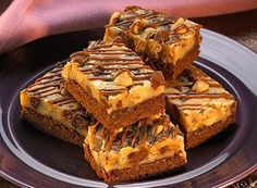 HERSHEY'S | Peanut Butter and Milk Chocolate Chip Brownie Bars