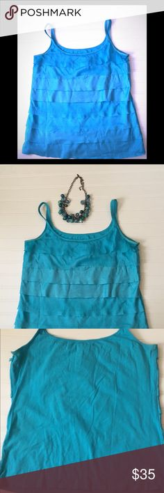 """New York & Company Blue Blouse New York & Company Blue Blouse Size XL.  Bust 19"""".  Length 24"""" 56% Cotton 37% Rayon 7% Spandex  Trim 100% Polyester   Necklace not included Worn once. Excellent condition  ✴️Great for work or a causal event ✴️ Thank you for looking and please check out the rest of my closet. Have a phenomenal day! New York & Company Tops Blouses"""
