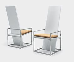 The Straight Dining Chair Design by Ferruccio Laviani - reminds me of Gerrit Rietveld's Red and Blue http://www.moma.org/collection/object.php?object_id=4044