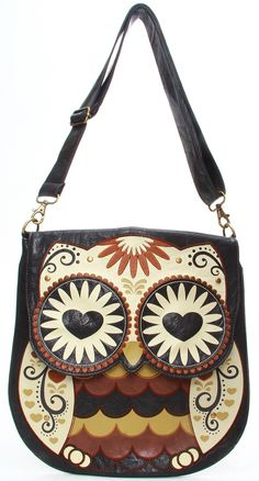 Owl with Heart Eyes Crossbody Bag -- I still need this in my life.  $75