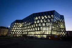 University Library Freiburg, Germany. Architect: Heinrich Degelo, Basel. The library building opened on July 21, 2015. The official opening was this fall. The library was built for 53 Million Euros. More than 12,000 students and faculty from more than 123 countries will be using the library. EA.