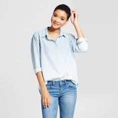 f0f8159d3d5 Do your own take on the menswear trend without having to raid any closets  with the Boyfriend Button-Down Shirt from Mossimo Supply Co.