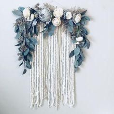 Sparkly, glittery piece of magic to hang on your wall! This floral wall hanging is