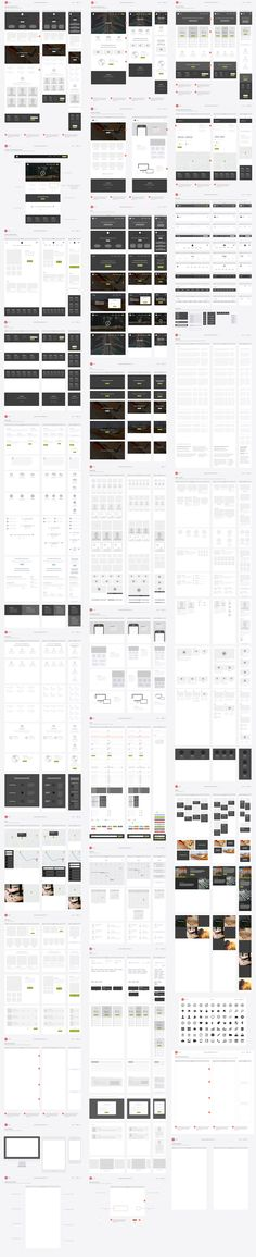 Responsive Website Wireframe Kit by UX Kits on @creativemarket