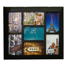 Collage Black Plastic 7-opening Photo Frame