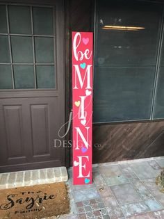 Valentines Day Porch Sign, St Patricks Day Porch Sign, Tall Porch Sign, Welcome Porch Sign, Wood Por You may not surprisingly commence decorating y. Valentines Day Decorations, Valentine Day Crafts, Be My Valentine, Holiday Crafts, Kids Valentines, Valentine Wreath, Valentine Ideas, Holiday Decorations, St Patrick's Day