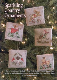 Sparkling Country Ornaments   1 of 4