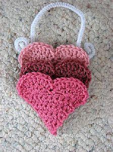 ♥ⓛⓞⓥⓔ♥ Heart Treat Pockets Free Crochet Pattern