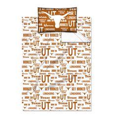Texas Longhorns NCAA Twin Sheet Set (Anthem Series)
