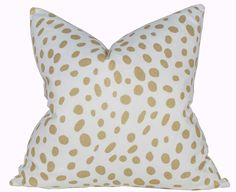 Dalmatian Pillow Cover - Gold Pillow Cover - Premier Prints Togo Athena Gold - Made to Order in Over 20 Sizes with Invisible Zipper