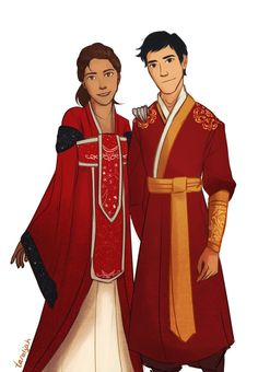 Happy Lunar New Year! From the Queen of Luna and the Emperor of the Eastern Commonwealth. Cinder and Kai are from the Lunar Chronicles series by Marissa Meyer ~Used Paint Tool Sai and Wacom . Ya Books, I Love Books, Good Books, Teen Books, Kai, Fanart, Viria, Percy Jackson, Lunar Chronicles Cinder