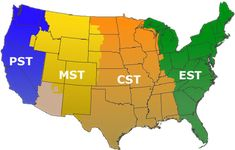 7 best maps of USA time zone images on Pinterest | Time zone map ...