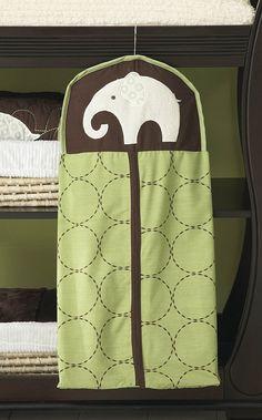 Carter's Green Elephant- Diaper Stacker - Best Price  #8DiaperscomNursery