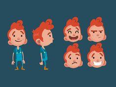 Character design / kid by vainui de castelbajac. Vector Character, Character Design Cartoon, Character Design Animation, Character Design References, Simple Character, Boy Character, Character Drawing, Character Illustration, Character Design Challenge