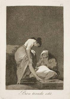 """Goya en El Prado: Bien tirada está  """" Serie Caprichos """" 17 Museo Nacional del Prado. Madrid"""