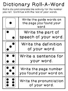 Dictionary Skills Word Sort Activity {Cut & Paste} - Great for ...