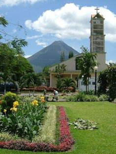 Since my own photo is apparently too big to pin, here is La Fortuna, Costa Rica (Arenal Volcano in the background). Favorite part of my senior year trip there!
