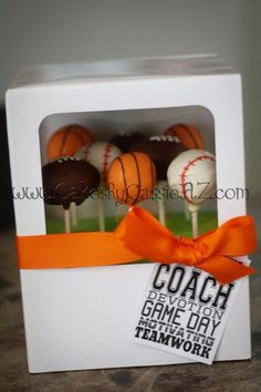 Sports cakepops......