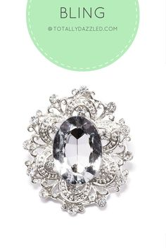 Beautiful crystal and rhinestone slider buckle for only $0.98 at totallydazzled.com! This product is also available in gold. Check out our website to view our entire collection!