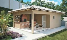 Trendy home plans modern islands 16 ideas Bungalow House Design, Small House Design, Philippine Houses, Outdoor Kitchen Design, Outdoor Living, Outdoor Decor, Trendy Home, Types Of Houses, Pool Houses