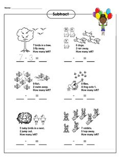 math worksheet : 1000 images about subtraction practice worksheets on pinterest  : Visual Subtraction Worksheets