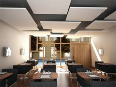 Acoustic ceiling clouds ROCKFON ECLIPSE - ROCKFON - ROCKWOOL ITALIA