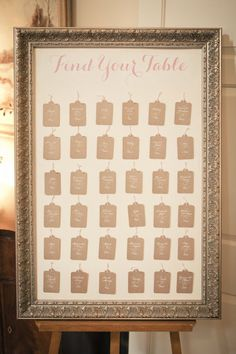 framed seating cards | Photography by theweddingac.com  Read more - http://www.stylemepretty.com/2013/08/13/pennsylvania-vintage-wedding-from-the-wedding-artists-collective/