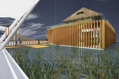 """Proiectul Pavilionul Romaniei la Expozitia Mondiala 2015 va fi prezentat in cadrul Expoconferintei Internationale de Arhitectura RIFF – acoperisuri, izolatii, fatade. Lucrarea este descrisa ca avand forma unei """"casute traditionale, cu elemente de arhitectura populara, dar interpretate dintr-o perspectiva contemporana, avand acoperisul de stuf si peretii de sticla""""."""