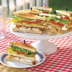 Chicken Salad Club Sandwiches by All You. MyRecipes recommends that you make this Chicken Salad Club Sandwiches recipe from All You