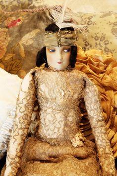 French Flapper Boudoir Doll