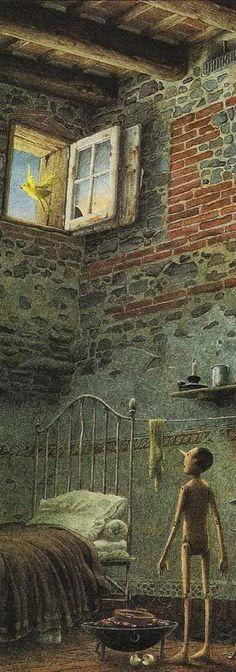 """Итальянский иллюстратор Роберто Инноченти: """"Приключения Пиноккио"""""""