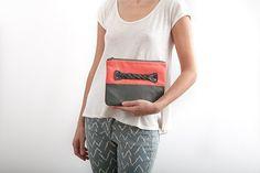 FREE SHIPPING handmade purse color blocking genuine #LeatherBag