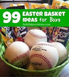 Easter Basket Ideas for Boys #easter #easterbasket