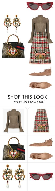 """Untitled #391"" by donia-tanase on Polyvore featuring Acne Studios, Gucci and Gianvito Rossi"