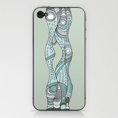 Sea Weeds, pale iPhone & iPod Skin by melanie j cook - $15.00  This is the design I have on my own phone.