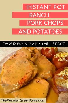 This is a easy dump and go Instant Pot pork chop and potatoes recipe! | Instant Pot Pork Chops | Instant Pot Ranch Pork Chops and Potatoes | Instant Pot Dump and Go Ranch Pork Chops and Potatoes | Instant Pot Dump and Go Pork | Instant Pot Dump and push start Pork Chops | Dump and Push Start Instant Pot Pork Chops | #instantpot #pressurecooking #pork #easydinner