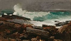 Poster: x inches Artist: Winslow Homer, United States oil on canvas Portland Museum of Art, Maine. Bequest of Charles Shipman Payson, Seascape Paintings, Landscape Paintings, Landscapes, Oil Paintings, Vintage Paintings, Painting Art, Winslow Homer Paintings, Reproduction, Abstract Landscape