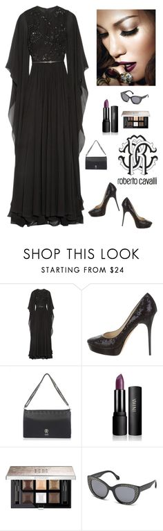 """""""Roberto Cavalli"""" by kotnourka ❤ liked on Polyvore featuring Elie Saab, Jimmy Choo, Roberto Cavalli and Givenchy"""