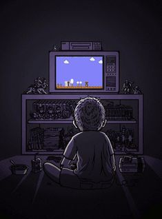 """Childhood memories. Those times in dad's old workshop (or """"The Cuartito""""), where he had our Nintendo set up :*)"""