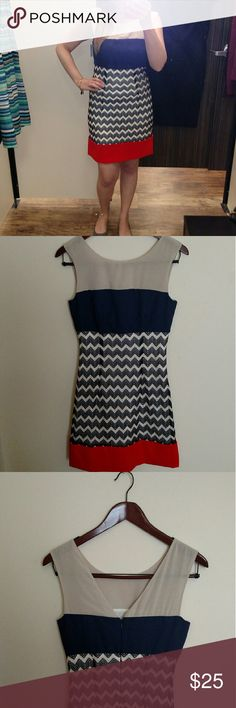 Price drop!! Dress Max and Cleo red white and blue dress. Super comfy can be dressed up or down. Max & Cleo Dresses Mini
