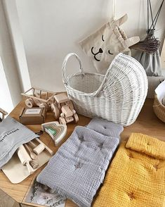 Packing table situation right now I call it - a pretty mess This one is off to US so happy to see our new wicker doll prams and doll bedding traveling across the pond