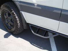 Mercedes Sprinter 4x4 with aluminum off-road nerf bars.