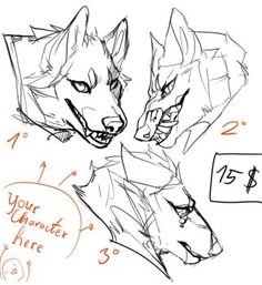 54 ideas drawing wolf cartoon character design references for 2019 Animal Sketches, Animal Drawings, Drawing Sketches, Art Drawings, Wolf Drawings, Poses Manga, Wolf Sketch, Creature Drawings, Poses References