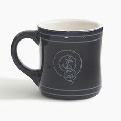 J.Crew Gift Guide: men's anchor ceramic mug.
