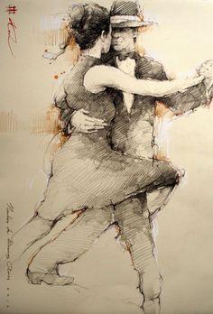 second kohn tango art printmaking Figure Drawing, Painting & Drawing, Art Sketches, Art Drawings, Tango Art, Figurative Art, Illustration Art, Fine Art, Abstract