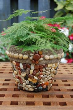 Sand and Stone Terra cotta Mosaic Planter