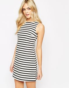 New Look Striped A Line Dress