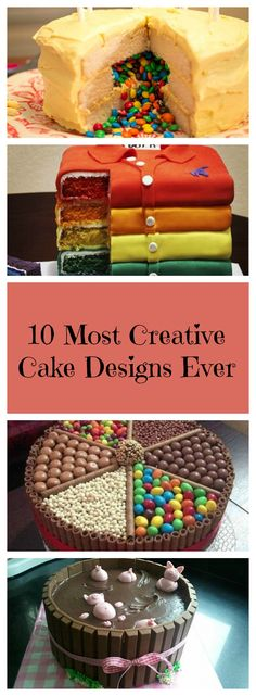Creativity is putting your imagination to work, and it always produces the most extraordinary results. Look for inspiration in these delightful cakes.